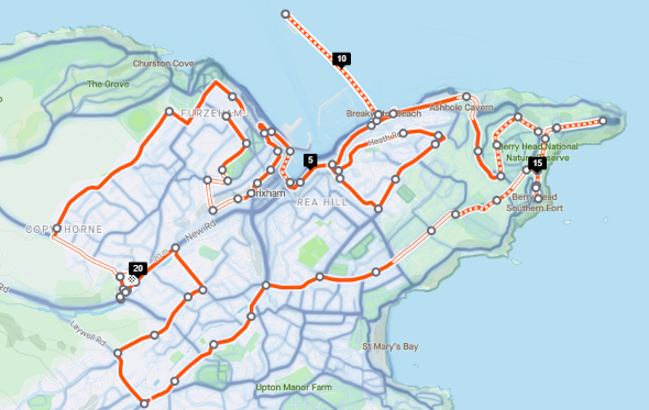 Brixham Half Marathon Route, Saturday 2nd January 2021