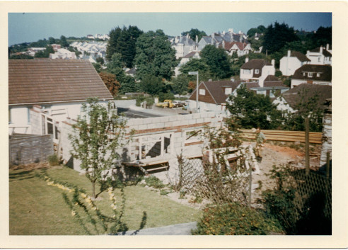 Picture 4: The new bungalow under construction, taken from Miss Dickenson's bungalow.