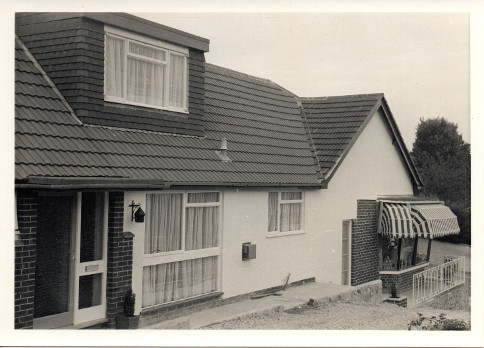 Picture 5: The new bungalow shortly after completion with the general store.