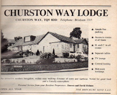 Picture 6: An advert for the guest house in a 1974 brochure for Brixham.