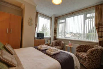 A spacious double room situated on the ground floor